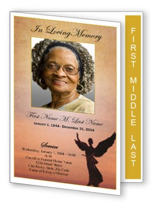 Beloved Angel Graduated Fold Funeral Program Template