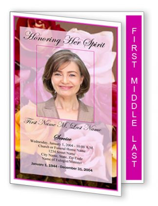 Flowers of Devotion Graduated Fold Program Template