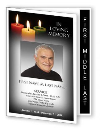 Glowing Memories Graduated Fold Program Template