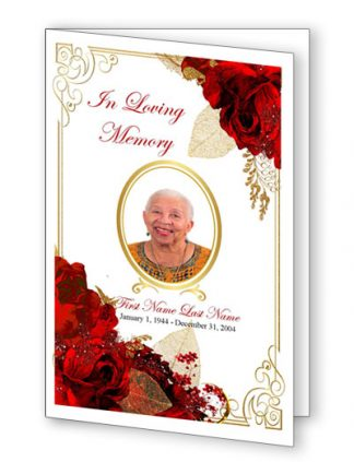 Bifold Funeral Program Templates