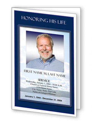 Mountain Memory Bifold Funeral Program Template