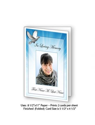 Celestial Dove Memorial Funeral Card Template