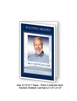 Mountain Memory Memorial Funeral Card Template