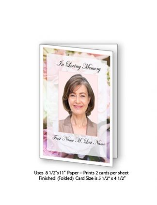 Pastel Memories Memorial Funeral Card Template