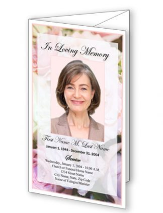 Pastel Memories Trifold Funeral Program Template