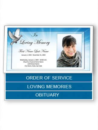 Bottom Fold Funeral Program Templates