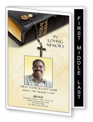Bible Memories Graduated Fold Program Template