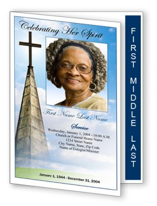 Heavenly Cross Graduated Fold Program Template
