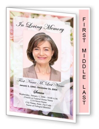 Pastel Memories Graduated Fold Program Template