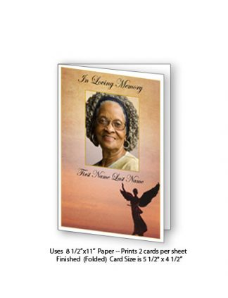 Beloved Angel Memorial Funeral Card Template