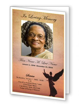 Beloved Angel Bifold Funeral Program Template