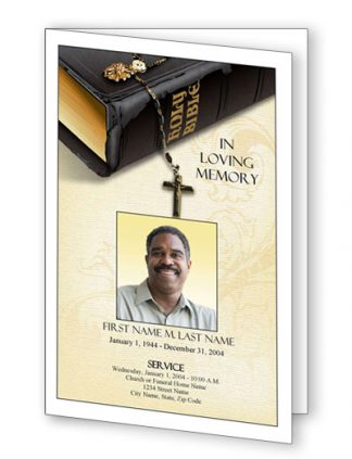 Bible Memories Bifold Program Template