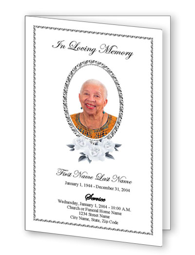 Classic Floral Funeral Program Template