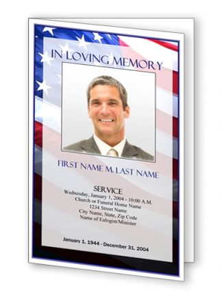 Patriotic (US) Bifold Funeral Program Template