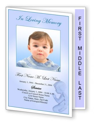 Precious Blue Angel Graduated Fold Program Template