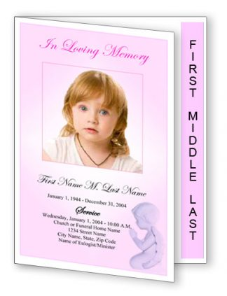 Precious Pink Angel Graduated Fold Program Template