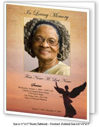 Beloved Angel Large Tabloid Funeral Program Template