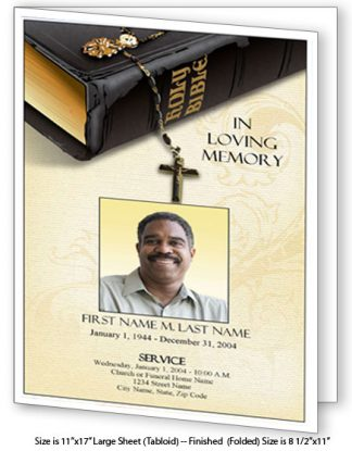 Bible Memories Large Tabloid Funeral Program Template