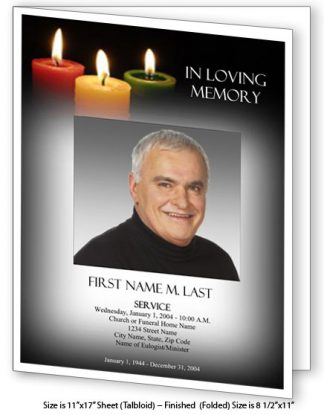Glowing Memories Large Tabloid Funeral Program Template