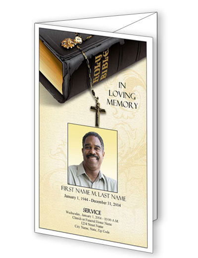 Bible Memories Trifold Program Template