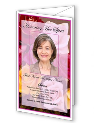FFlowers of Devotion Bifold Funeral Program Template